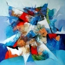 abstract blauw 1